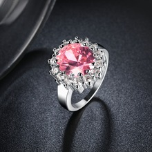 Kate Princess Diana William 2.5ct Cute Pink Engagement Wedding Ring For Women Love Lady Set  gold colour Fine Jewelry