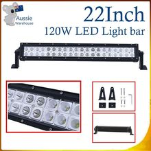 22Inch 120W Spot & Spread LED LIGHT BAR Fog Driving 4x4 4WD For Truck SUV UTE Lamp