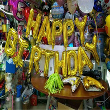 2017 New Thin Body Happy Birthday Dress Aluminum Film Balloon Children's Birthday Letter Balloon Party Decoration
