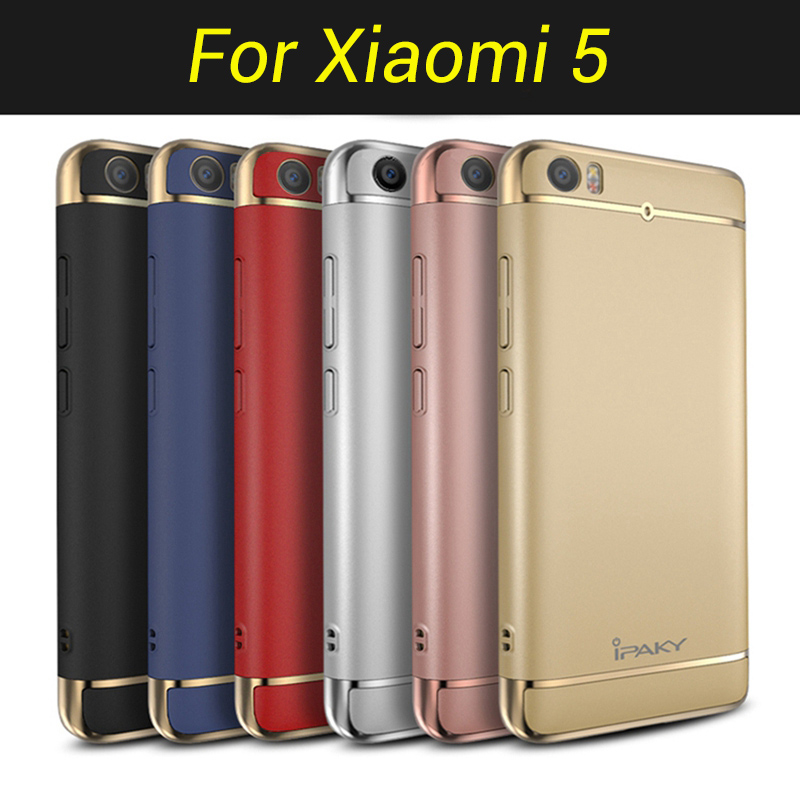 Original-IPAKY-Full-Protection-Mi5-Case-3in1-Plating-Matte-Back-Cover-Coque-Housing-For-Xiaomi-Mi5