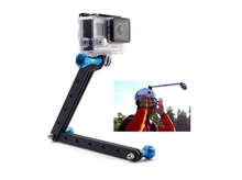 Gopro Universal Aluminum Selfie stick Extension Arm + Screw Tripod Mount Holder for Gopro hero 4 3 3+ SJCAM Xiaoyi Camera