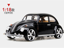 Hot sale 1:18 Volkswagen Beetle  Beatles MZ Retro classic cars  Alloy car models  toy Gifts for boys Collectables Decoration