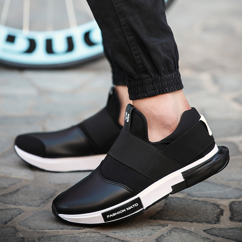 Y8 2017 Fashion Print Men Casual Shoes Pu Leather Slip On Flat Breathable Soft For Eur Size 39 44 In S Vulcanize From