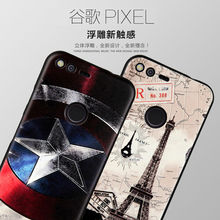 "For Google Pixel Case 5.0"", For Google Pixel XL 5.5"" Cover Silicon 3D Relief Cartoon Phone Protective Coque Funda Etui Accessory"