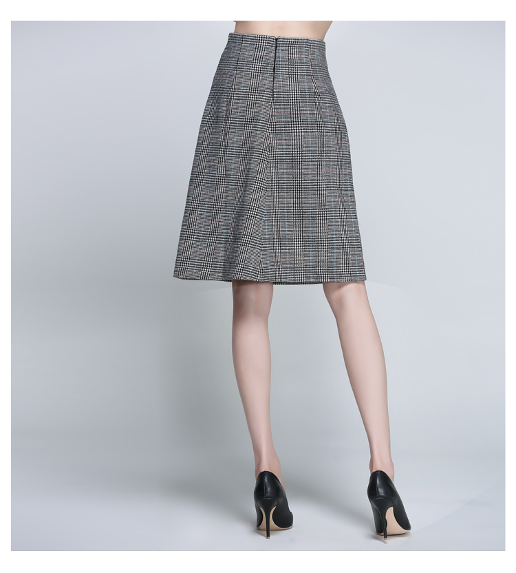 Women Houndstooth Skirt (12)