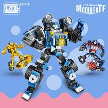 LOZ Mini Blocks Technic Car Deformation Robot Toys Kids Educational Toys Children Building Blocks Brick Truck Boy Gifts DIY