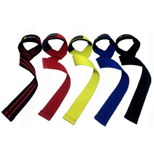SaFit Lifting Straps - Weightlifting Hand Bar Wrist Support Hook Wrap Wrist Supports Assist Grip Strength Weight Lifting Strap(China)