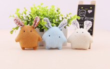 CUTE 8CM MIX Colors Small Rabbit Stuffed Toy , Plush String Toy Doll ; Kid's gift plush toy , wedding plush toy gift
