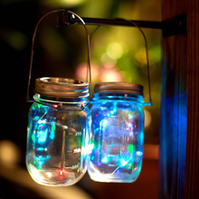 1pcs/3pcs Christmas Party Decor Solar Mason Jar Lid Insert Fairy Light With LED for Glass Jars Christmas Light For New Year(China)