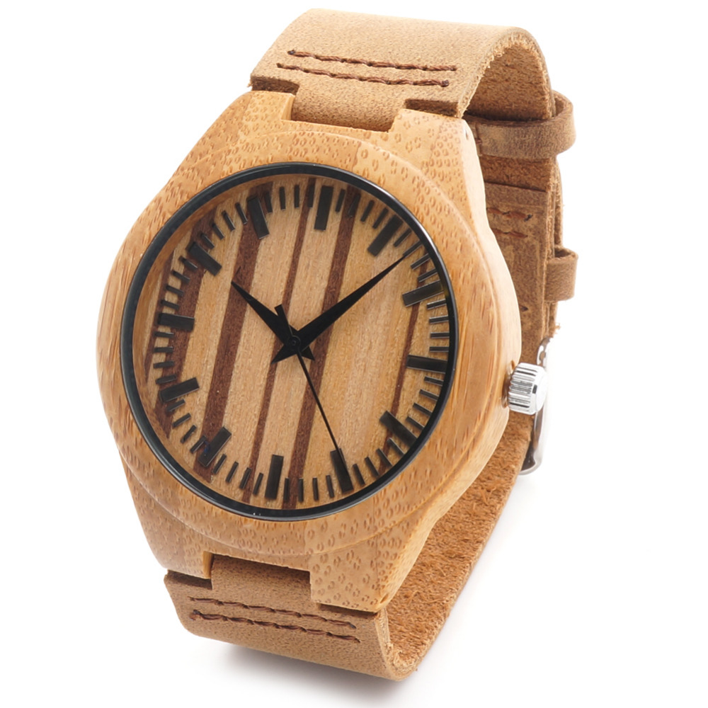 BOBO BIRD F14 Mens Design Brand Luxury Nature Bamboo Watches With Real Leather Band Quartz Watch in Gift Box As Christmas G<br><br>Aliexpress