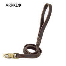 ARRKEO Genuine Leather Dog Leash Leads for Dog Puppy Collar Pet Supplies Dog Accessories 120 CM For Large Small Dog(China)