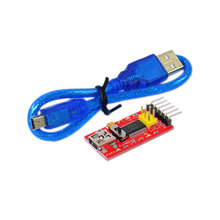 Free shipping!Fuduino FTDI(original chips) Basic Program Downloader USB to TTL FT232+USB cable for Arduino