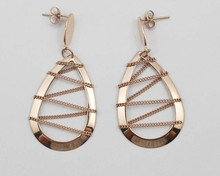 Punk Style Flash Deal Earrings Jewelry Individual Designer Rose Gold Color Water Drop Earrings Stainless Steel
