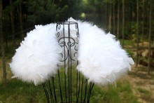 Warm Winter Wraps Ostrich Feather Cape Bridal Boleros Shrug Wedding Cape Women Formal Women Wedding Accessories Short Design