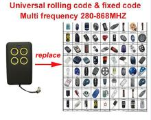 1pcs Multi frequency copy 280-868mhz rolling code garage door remote control duplicator top quality(China)