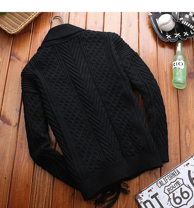 Winter Men Cardigan Coat Thicken Loose Fit Warm Turtleneck Sweater Men Autumn Knited Male Sweatercoat Black Brand Muls M-4XL-08