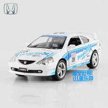 Free Shipping/1:34 Scale/Honda Integra Type R/Educational Model/Pull back Diecast Racing toy car/Collection/Gift