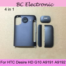 4 in 1 G10 Battery Back Cover For HTC Desire HD G10 A9191 A9192 Back Battery Case Door Housing For HTC Inspire 4G(China)