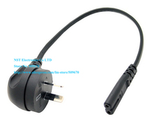 Australia New Zealand Angled 2Pin Male to IEC 320 C7 Female Short Power Cable About 30CM/Free Shipping/2PCS