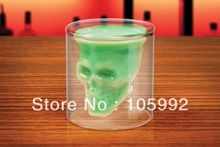 Newest Doomed Crystal Skull Shot Glass,Crystal Skull Head Vodka Shot Wine Glass Novelty Cup Free Shipping
