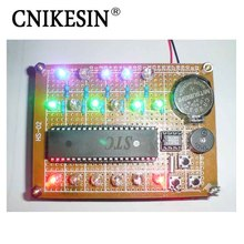 CNIKESIN Creative DIY 51 Singlechip Electronic Design Suite: Colorful Binary Electronic Clock 9 ( no battery)(China)
