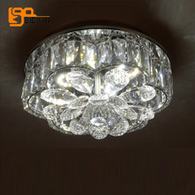 luxury crystal ceiling lights LED lamp modern round ceiling fixtures for bedroom living room lighting(China)