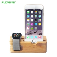 FLOVEME Universal Classic Wooden Mobile Phone Stand Desk Phone Holder for iPad iPhone 6 7 iPhone6 6s se 5 5s Plus iwatch