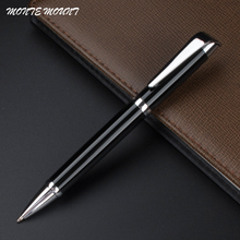 MONTE MOUNT black ballpoint pen with clip stationery school office brand writing pens for gift