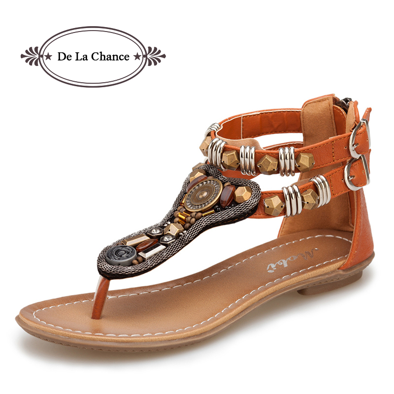 New Womens Gladiator Roman Indian Ethnic Style Leather Flats Sandals Shoes Gladiator Sandals Women Sexy Stud Women Flat Shoes<br><br>Aliexpress