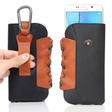 Running Leather Cell Phone Pouch Case Belt Clip For Samsung Galaxy S7 S6 edge S5 S4 S3 S2 iPhone 6 6s plus 4.7 5.2 5.5 inch Bag