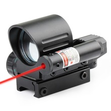 Combo Holographic 4 Reticle Green/Red Dot with Red Laser Dovetail Sight Optics Reflex Scope Scopes Air Soft Tactical