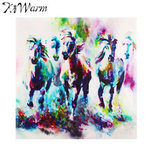 Kiwarm Abstracta Moderna Animal Caballo Corriendo Pantalla Pintura de la Lona Imagen de Arte de Pared para Home Hotel Living Room Decor Sin Marco