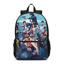 fd1685ad03b Backpacks For Boys Girls Fashion Free Fire Games 3D Printing School Bags  Teenage Children Kids Bookbag