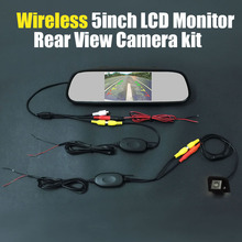 Wireless 5inch TFT LCD Mirror Monitor Review Car Rear View Backup Reverse Camera System Kits For Toyota Prius 2012 2013 2014(China)