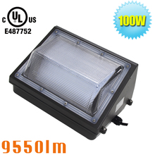 LED 100W Wall Pack Light Outdoor Light Fixture 250W MH/HPS/HID Replacement 5000K Daylight Wet Location Rated Security Light
