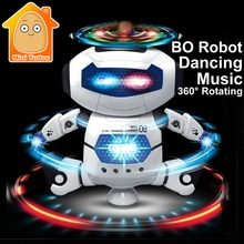 MiniTudou Stunt Kidrobot Superhero Dance Electric Robot With Light Music Musical Toys For Children Infant Adult Action Figures(China)