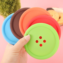 1pcs Silicone Cup mat Cute Colorful Button Cup Coaster Cup Cushion Holder Drink Cup Placemat Mat Pads Coffee Pad Hot Sale