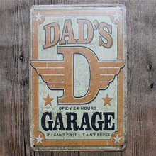 Vintage Home Decor DAD'S GARAGE Vintage Metal Tin Signs Retro Metal Sign Decor The Wall of Cafe Bar Home Custom Neon Sign