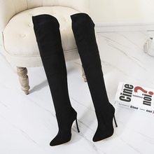 Suede Slim Boots Sexy Over the knee High Women  Boots Women's Fashion Winter Thigh High Boots Shoes Woman  SIZE 35-42