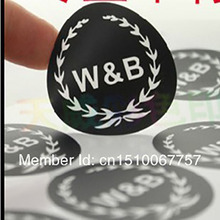Wholesale Free Shipping By Fedex Customize One Color Logo Round Shaped Water-Proof PVC Coated Film Sticker Label