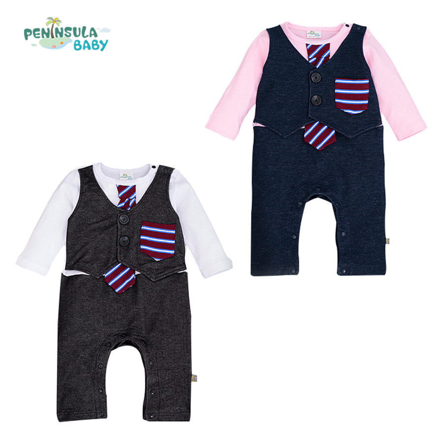 Infant Clothes Baby Rompers Gentleman Newborn Jumpsuit Babies Boy Costume Formal Clothes for Wedding Party One-pieces<br><br>Aliexpress