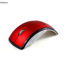 Kebidumei 2017 New 2.4GHz Folding Wireless Mouse for PC Laptop Computer Mini USB 2.4Ghz Snap-in Transceiver Optical Foldable(China)