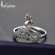 Iutopian Fashion Jewelry Vintage Retro Elegant Swan Rings For Women Bird Rings Antique Top Quality(China)