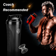 Potable Drink Whisk Bottle Drink Bottle Sports With Built-in Spring Ball Smart Shake Gym Protein Shaker Mixer Cup