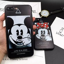 Lovely Mickey Minnie Mouse Silicone Case for iPhone 7 6s Case Soft Silicon Phone Cases Back Cover For iPhone 7 6 6s Plus coque