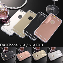 Luxury Soft Clear TPU Mirror Coque Cover For iPhone 6 Case Silicone Mobile Phone Bags Cases For Apple iPhone 6s Cover Funda Capa
