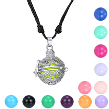 Fashion Angel Ball Necklaces Silver Mexican Bola Cage Necklaces For Pregnancy Women Ball Bell Chime Pendant Jewelry