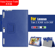 2016 NEW YOGA Tab2 Flip Cover For Lenovo Tab 2 A10-30F A10 30 X30 x30f Tablet Case PU Leather Case + Hand Holder + Card Slot