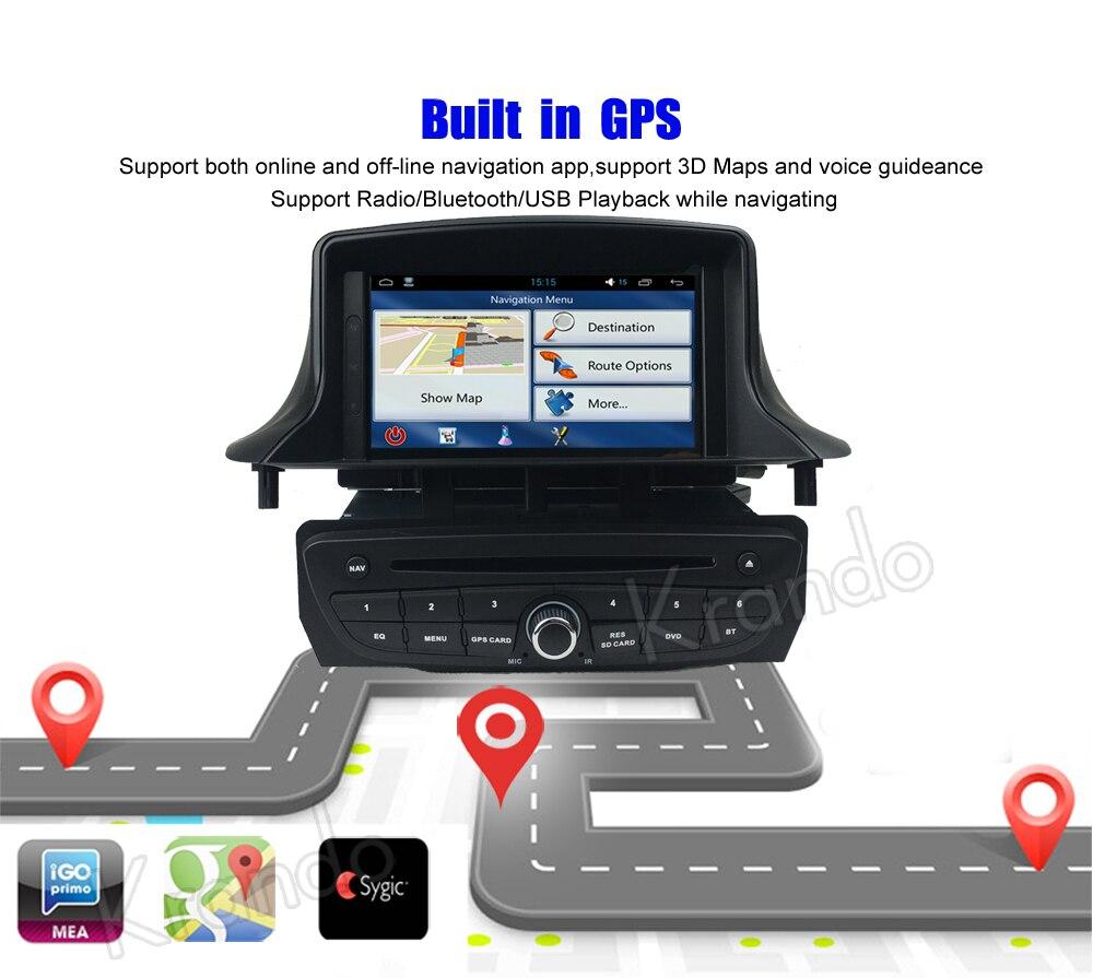 krando android car radio gps for renault megane 3 navigation multimedia system (7)