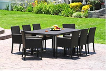 Sigma Modern Patio Wicker Furniture Outdoor Dining Sets 9 Piece